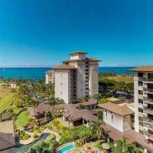 You can decide which is bluer, the sky or the ocean, from your lanai