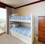 Third Bedroom has Twin Single Bed/Twin Bunk Beds and Private Lanai Access with Great Ocean Views