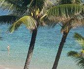 View from Lanai. Gorgeous pristine beach frontage.