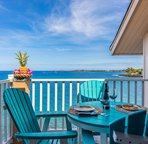 Private lanai with beautiful views of the ocean