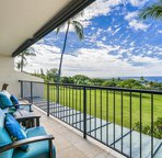 Lanai offers great views of the ocean and golf course