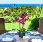 Covered lanai with beautiful Ocean Views