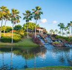One of the waterfalls at the entrance to Ko Olina