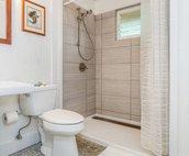 En-suite bathroom with shower!
