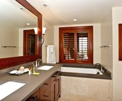 Large Master Bath with a Walk-in Shower and a Large Tub for Soaking