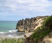 Lithified cliffs near Maha'ulepu