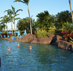 Your choice, Poipu Athletic Club Sandy entrance pool, or the beach, both short walk away!