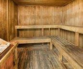 Sauna found inside locker rooms on recreation level