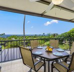 Lanai offers outside dining with a beautiful ocean view