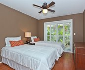 The Second Bedroom with Access to a Small Private Lanai