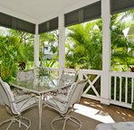 Large Lanai with a Garden View