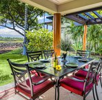Large private lanai offers outdoor dining