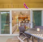 Large Private Patio to enjoy the Kauaian Sunshine!