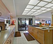 Large Kitchen with Access to Indoor and Outdoor Dining Areas