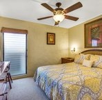 Bedroom includes a King bed...