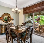 Inside dining/easy access to the lanai