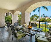 Very spacious lanai offers outside dining
