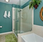 Spacious Master Bath with Tub and Walk-in Shower