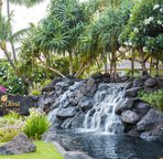 "One of the Waterfalls Welcoming People to Ko Olina; ""The Place of Joy"""