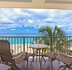 Comfortable Lanai with Treetop Views of the Ocean
