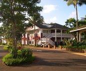 Kukui'Ula village has great shopping botiques and restaurants