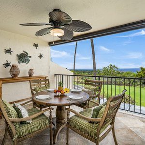 Enjoy morning coffee while taking in beautiful ocean and golf course views!