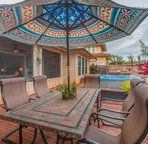 Private backyard with large BBQ area and plenty of room for the whole family!