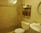 Bathroom With Tiled Walk In Shower