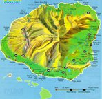 Poipu is on the south shore of the Kauai Map