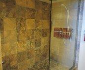 Master Bathroom Tiled Walk In Shower