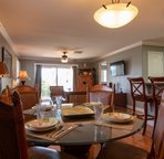 Dining Table for Four, Plus Seating at the Breakfast Bar