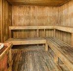 Sauna by the recreation deck