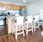 Full kitchens with room to entertain and dine