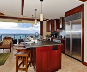 The Villa's Breakfast Bar with, You Guessed it, a View of the Ocean!