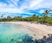 Access to beach at the Mauna Lani Beach Club