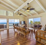 Living area facing ocean