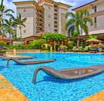 Relax on the Water Loungers at Pool Side