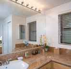 Master bath with high-end touches.