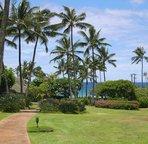 Walk through the resort to Poipu Beach