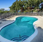 On-site saltwater pool and sun bathing area