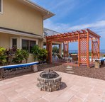 Wood Burning Firepit and Shared Lanai Space