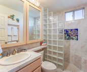 Updated bathroom with walk-in shower