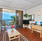 Living & Dining Area. Eat Inside or on Your Lanai Overlooking the Ocean
