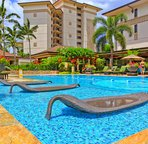 Water Loungers at Pool Side