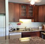 All new cabinets and granite counter tops.