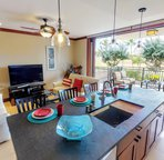 Enjoy breakfast at the kitchen bar, or on your lanai