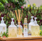 Luxurious Malie Organics toiletries supplied throughout the house.