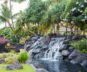 """One of the Waterfalls Welcoming People to Ko Olina; """"The Place of Joy"""""""