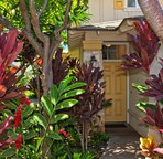 Entryway with Tropical Foliage