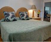 Third bedroom showing king bed setup